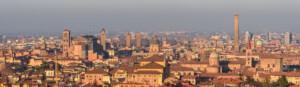 Panorama di Bologna dalla terrazza di San Michele in Bosco